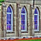 windows of a church in SC by henuly1