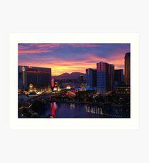 Sunset in Vegas Art Print