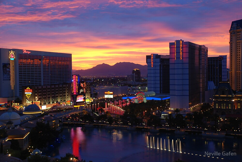 Sunset in Vegas by Neville Gafen