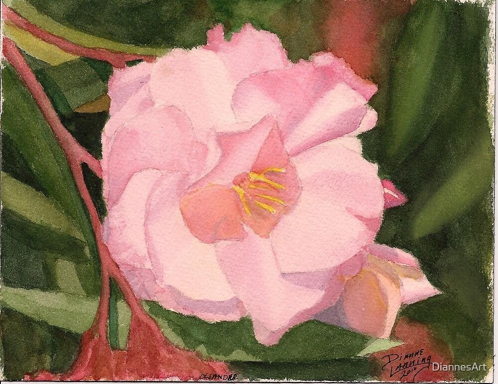 Oleander - Watercolor miniature by DiannesArt