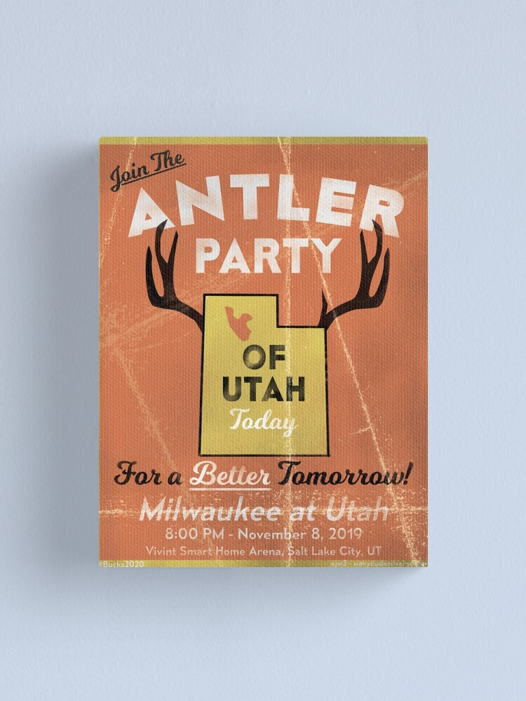 Alternate view of Join the Antler Party of Utah Canvas Print