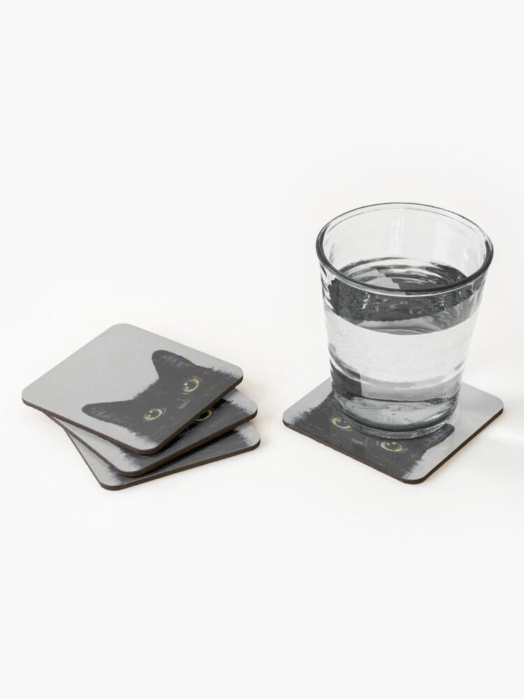 Alternate view of Black Cat Coasters (Set of 4)