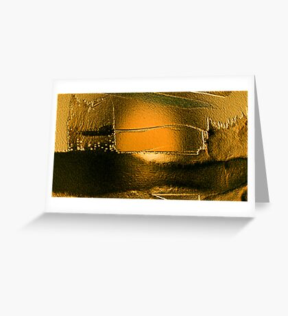 after the deluge so deadly quiet...... silent gold Greeting Card