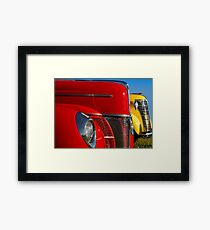 Red & Yellow Framed Print