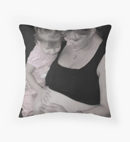 Your Little Sister is Coming This Week... Throw Pillow