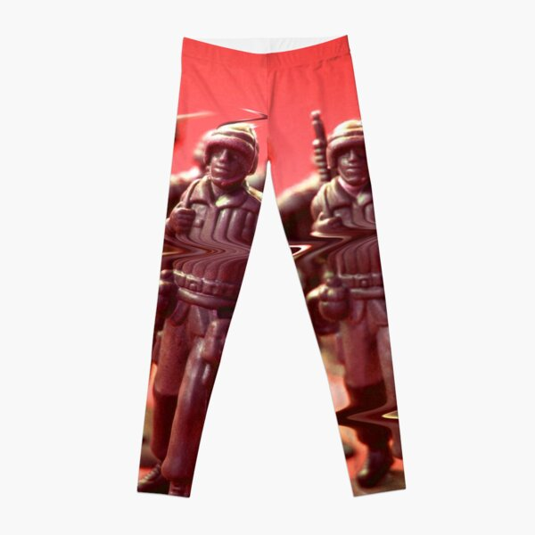 Solider Glitch Art Leggings