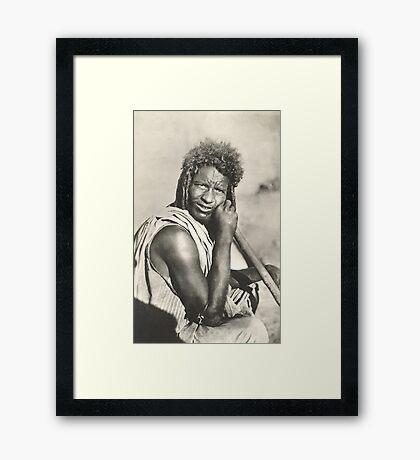 A Bisharin Man Framed Print