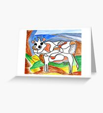"""""""Holy Cow""""! Greeting Card"""