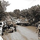 Brisbane Floods 2011 - Clean Up - The Troops Assemble (B&W - Sepia) by Neil Ross