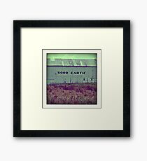 good earth Framed Print