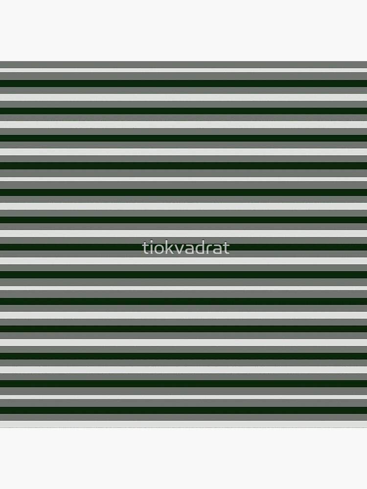 Dinner Stripes - Deep Green by tiokvadrat