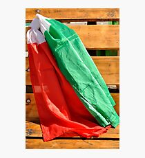 italian flags in the wind Photographic Print