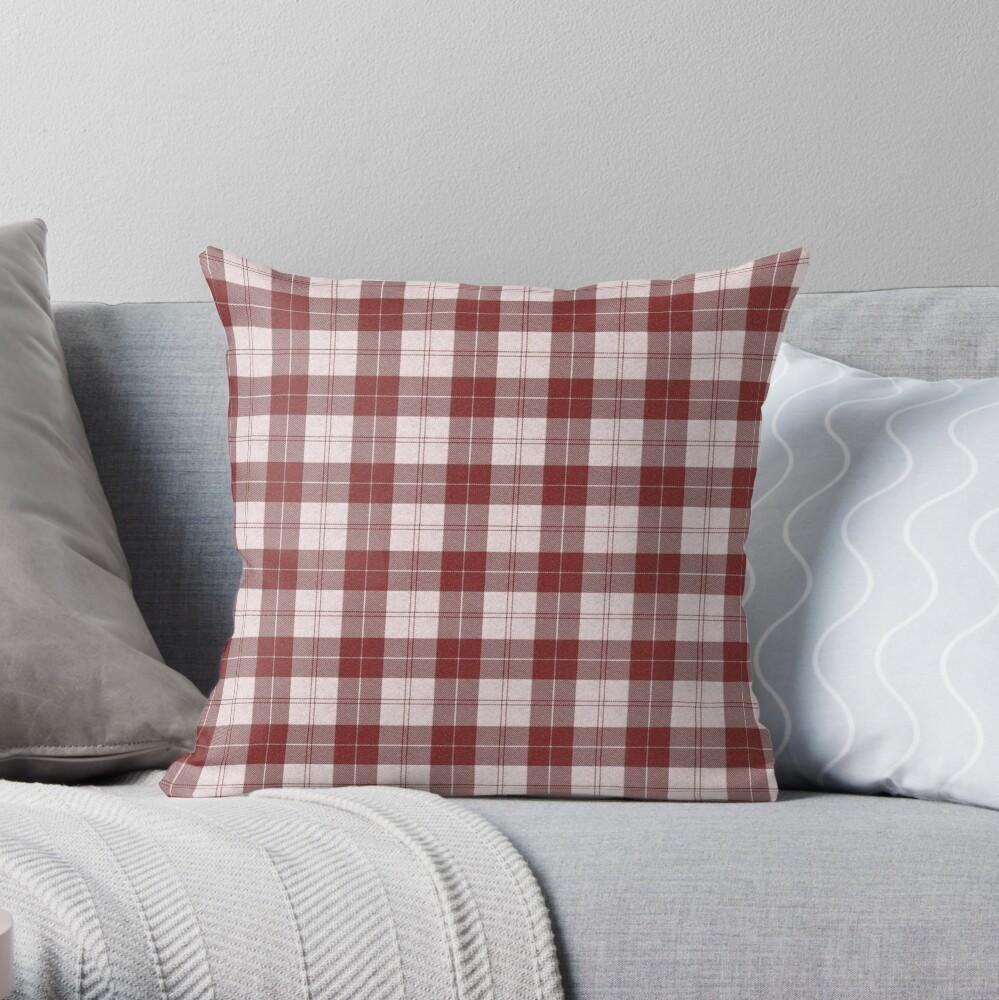 Rich Tartan - Red Throw Pillow