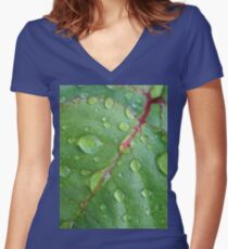 After the rain Fitted V-Neck T-Shirt