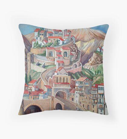 Byzantine Condomania two Throw Pillow
