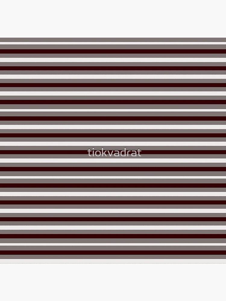 Dinner Stripes - Deep Red by tiokvadrat
