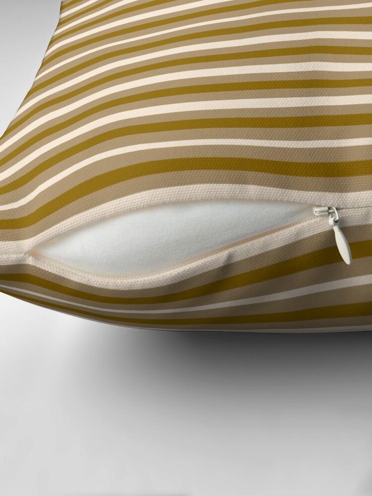 Alternate view of Dinner Stripes - Yellow Orange Throw Pillow