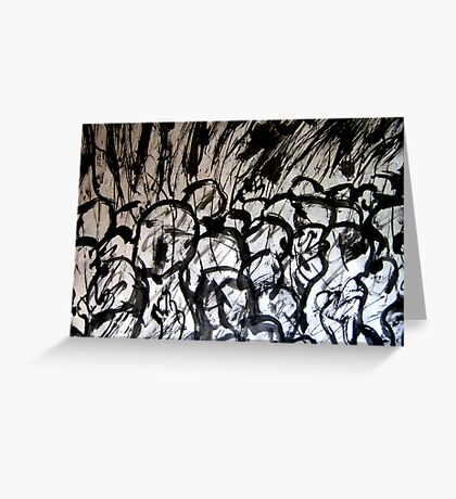 scribbles... total communities gone Greeting Card
