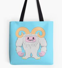 White toothy yeti Tote Bag