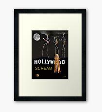 Hollywood Scream Framed Print