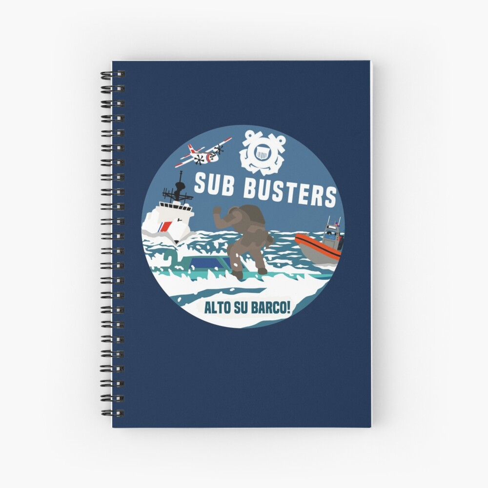 Coast Guard Sub Busters Spiral Notebook