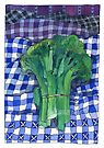 Broccoli and Gingham by TangerineMeg
