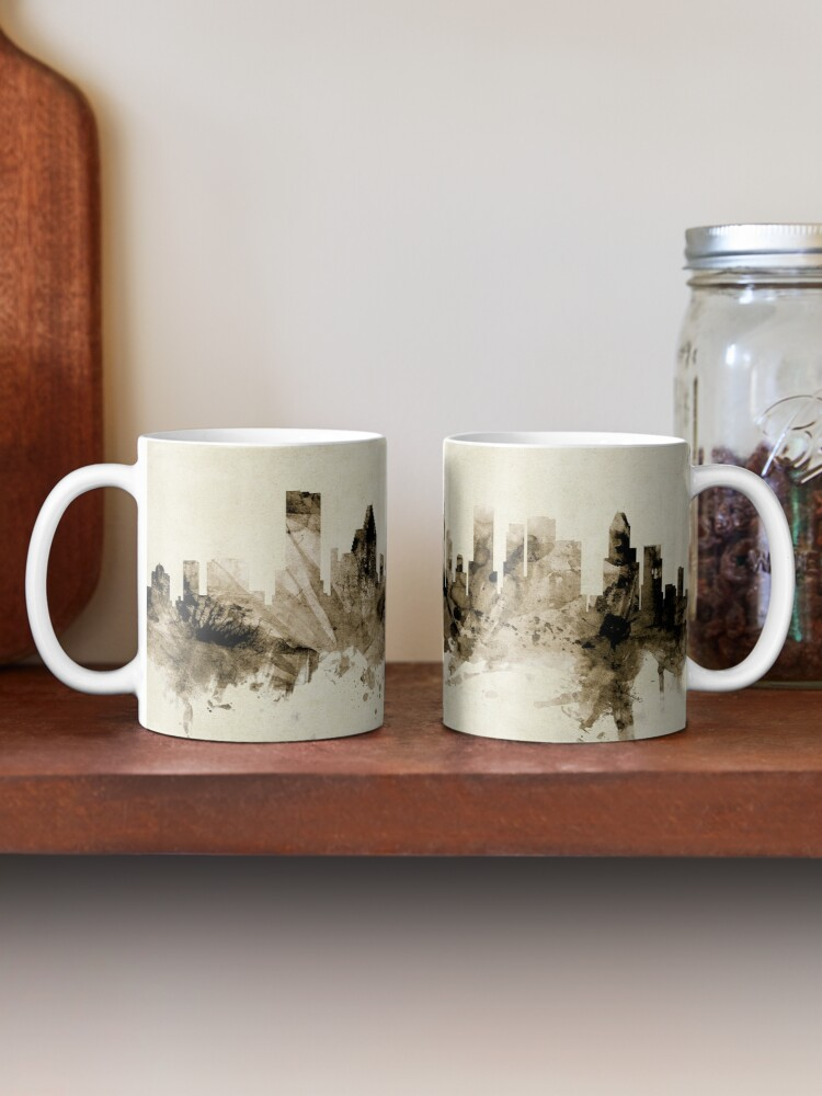 Alternate view of Houston Texas Skyline Mug