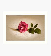 Rose vingnette Art Print