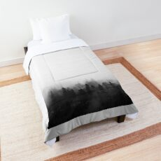 Minimalistic Forest In The Mist Comforter