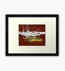 Three Hot Peppers Framed Print