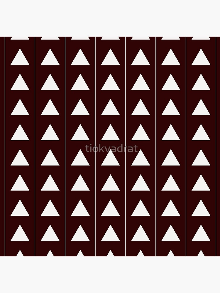 Pyramid Triangles - Deep Red by tiokvadrat