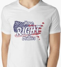 Here, Right Matters -Lt. Col. Alexander Vindman V-Neck T-Shirt