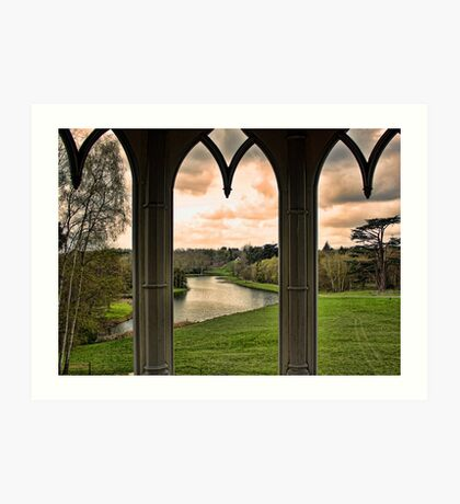 Lake view from Gothic Temple Art Print