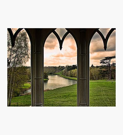 Lake view from Gothic Temple Photographic Print