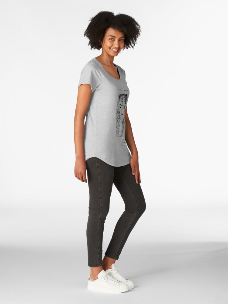 Alternate view of DELICATE DEMANDING Premium Scoop T-Shirt