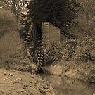 Sepia Water Wheel by Dean Messenger