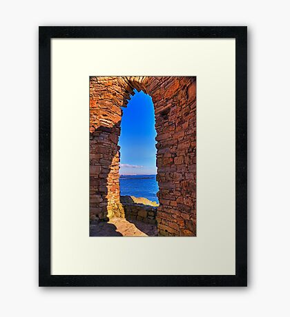 Through The Arched Window.. Framed Print