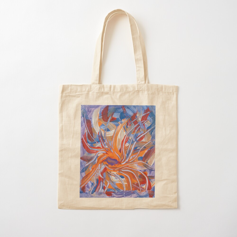 confluence shape abstraction Cotton Tote Bag