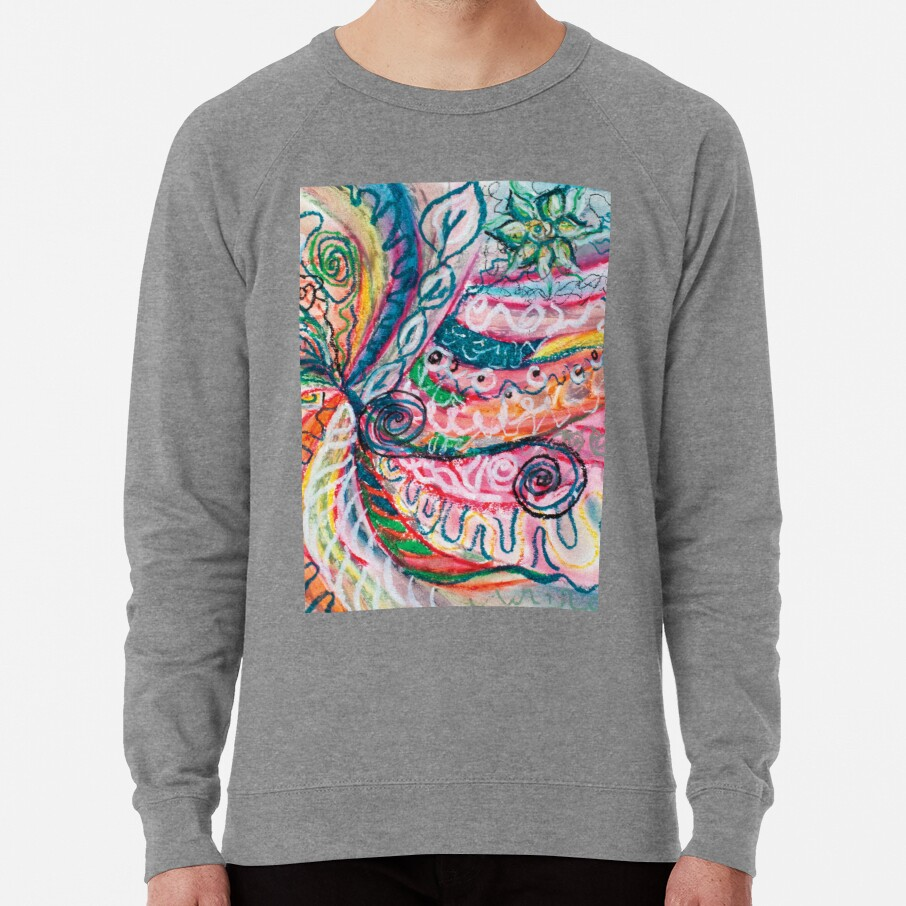 abstract concentric nature creation Lightweight Sweatshirt