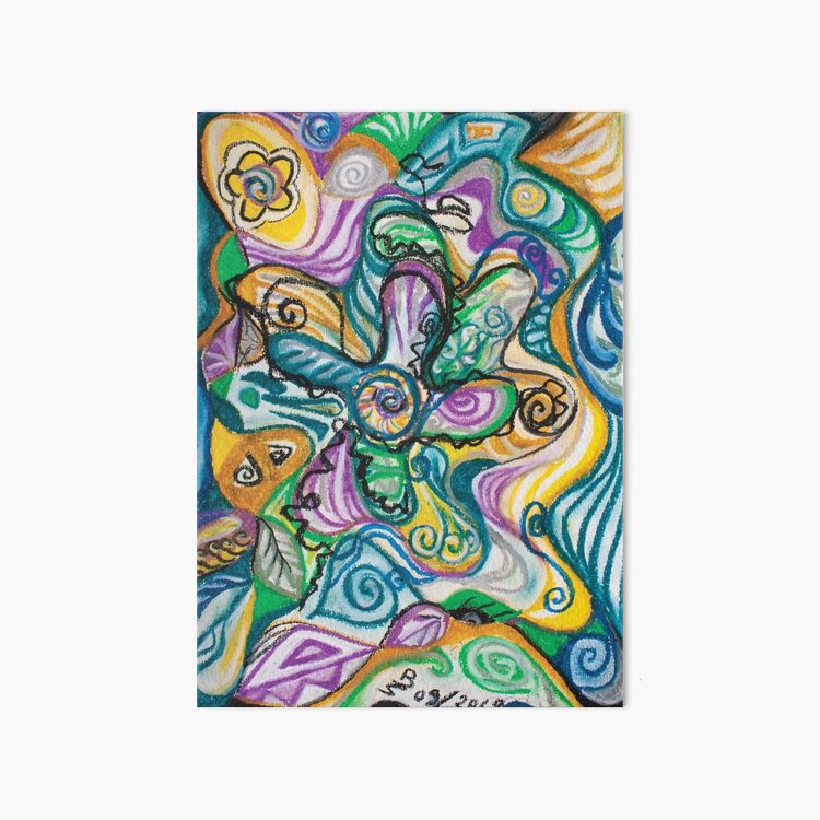 multicolored abstract composition Art Board Print
