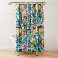 multicolored abstract composition Shower Curtain