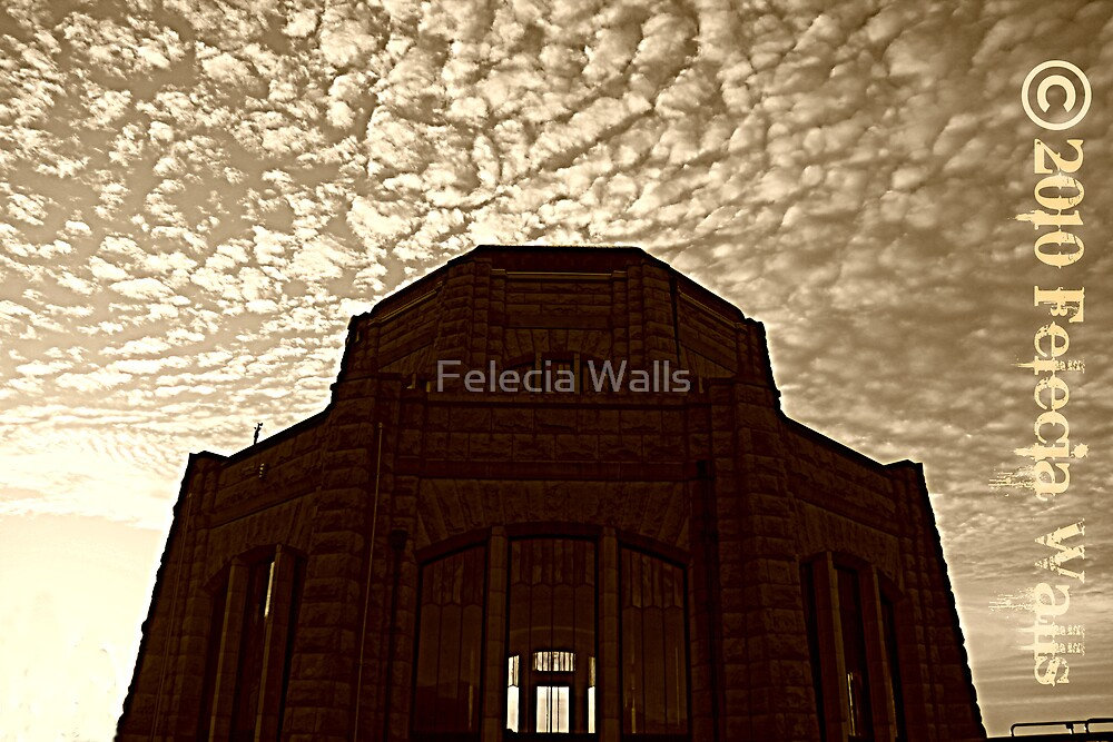Crown Point Sunset by Felecia Walls