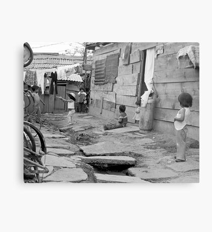 "At Play in the alleys of ""Shantytown"" Metal Print"