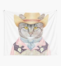 Country Cat Wall Tapestry