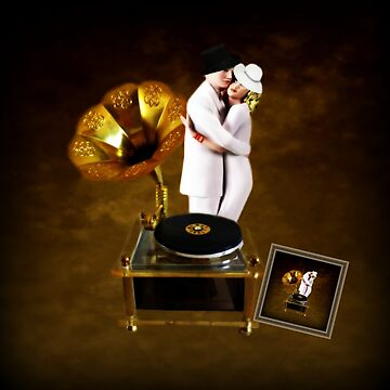 GRAMOPHONE MUSIC BOX - NEVER LET GO-PILLOW-TOTE BAG,PICTURE,JOURNAL, by Rapture777
