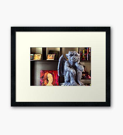 GARGOYLE. Framed Print