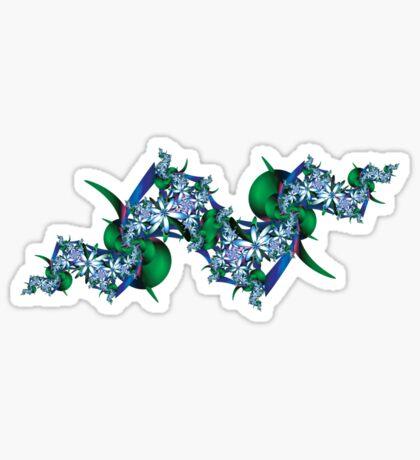 Fractal Flowers Tee Sticker