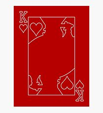 King of Hearts - Outline Photographic Print