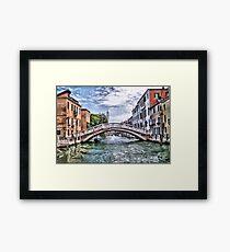 Under The Bridges Of Venice Framed Print