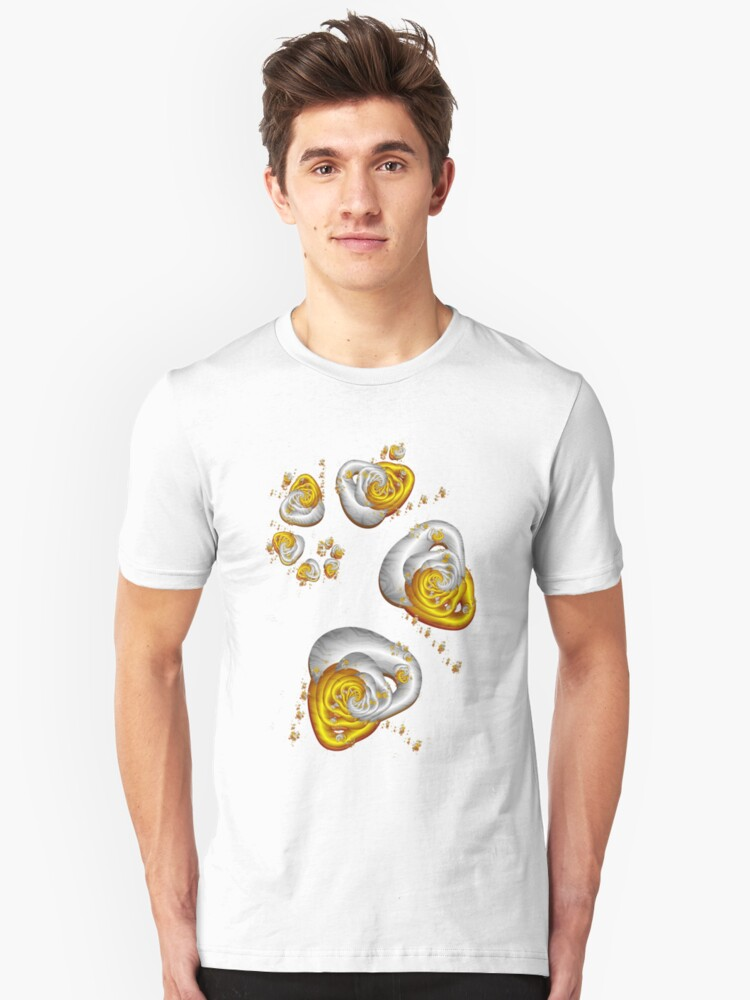 Journey to the Center - Gold and Silver Unisex T-Shirt Front
